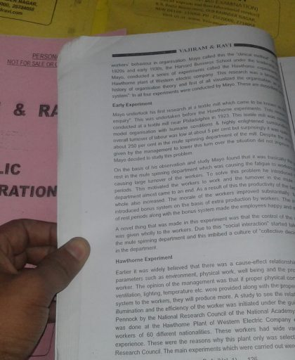 Vajiram and Ravi - Public Administration Optional - Printed notes