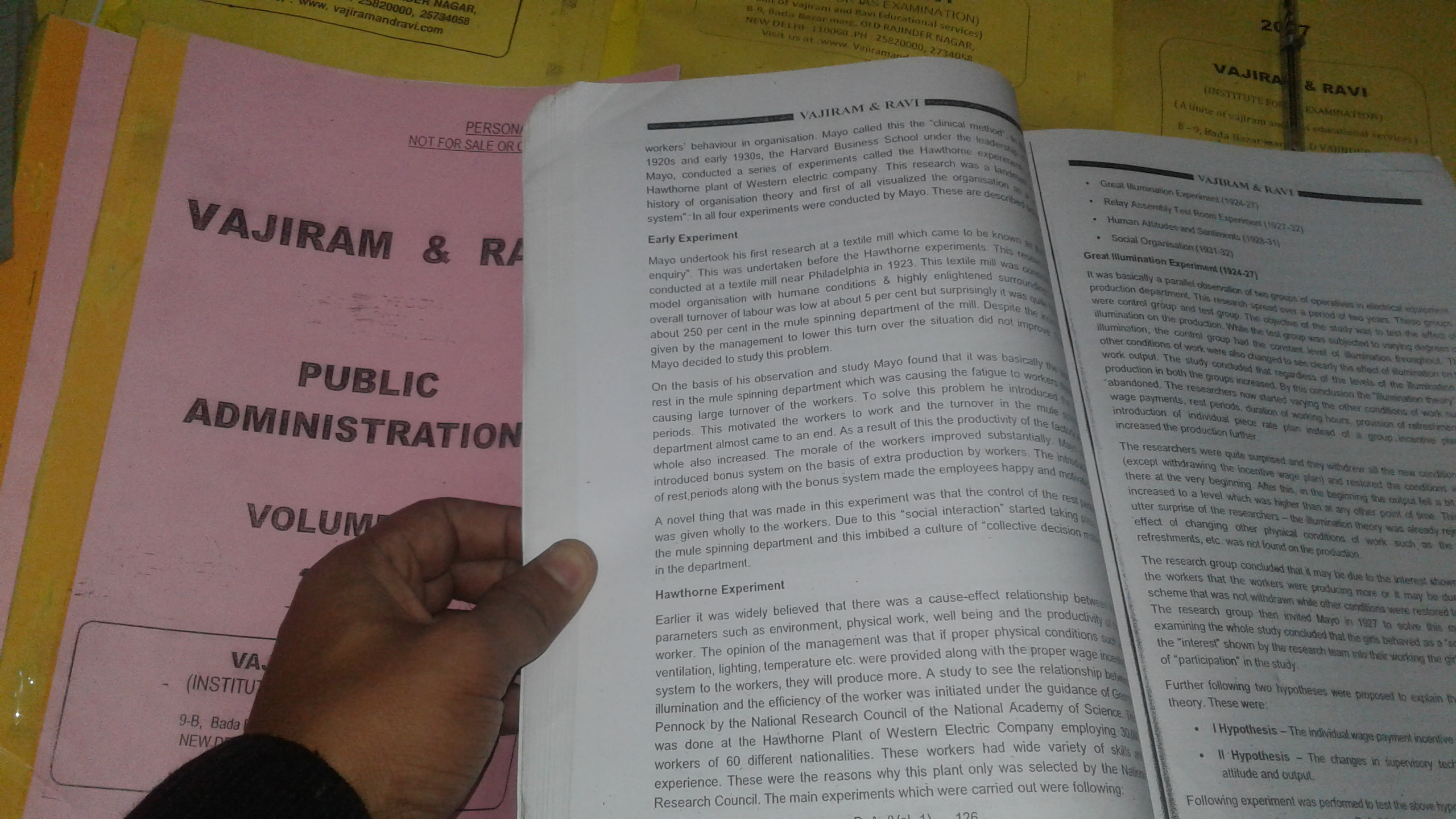 Vajiram and Ravi - Public Administration Optional - Printed notes