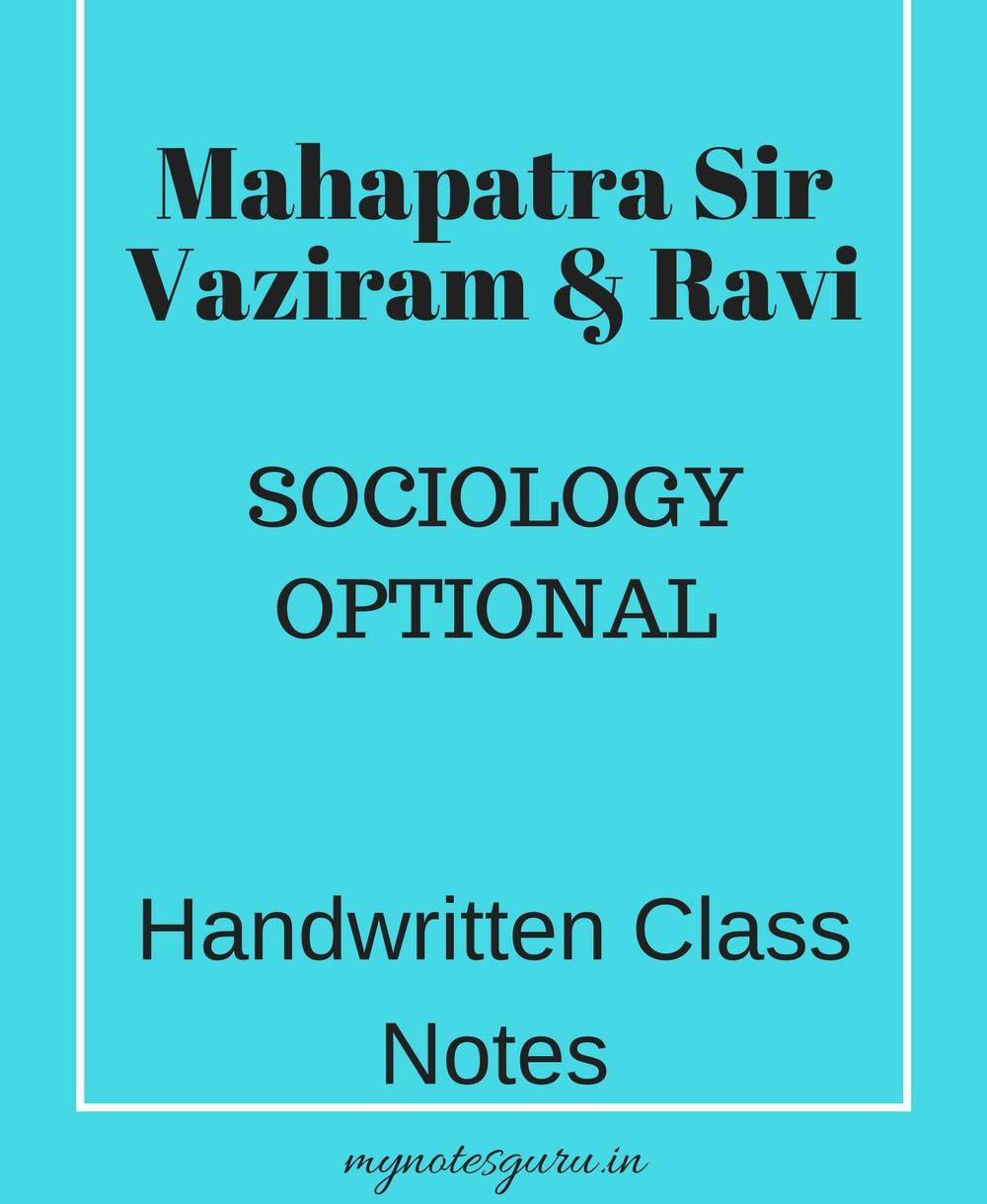 Pdf sociology notes