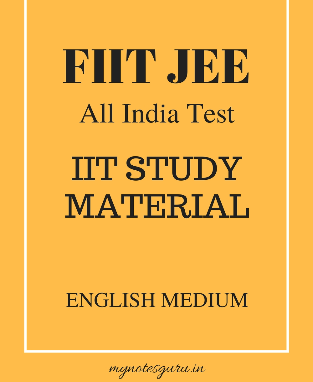 IIT JEE / PRE-MEDICAL : Free Study Material