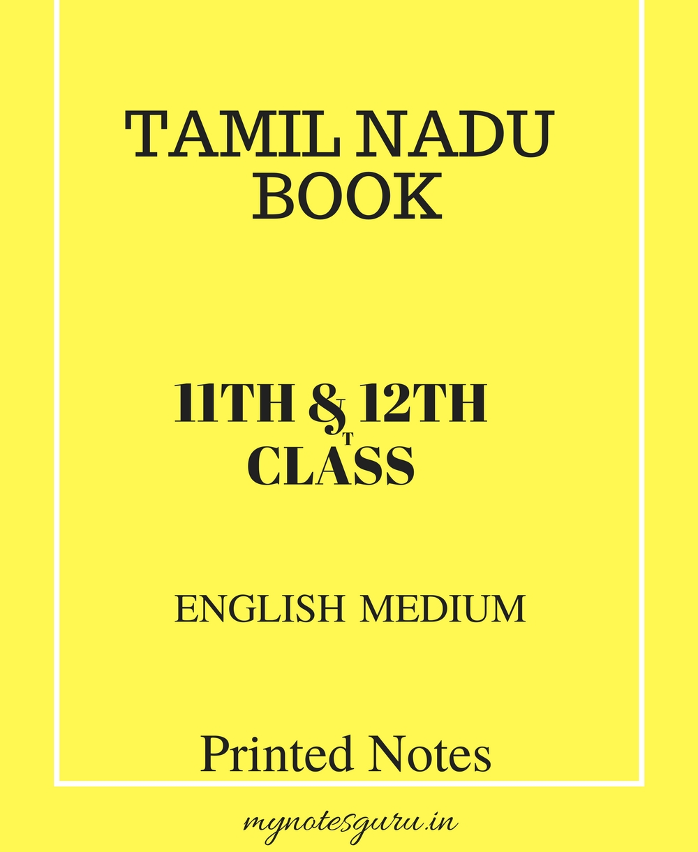 Tamil Nadu Book - 11th & 12th Class - English Medium - Printed Material