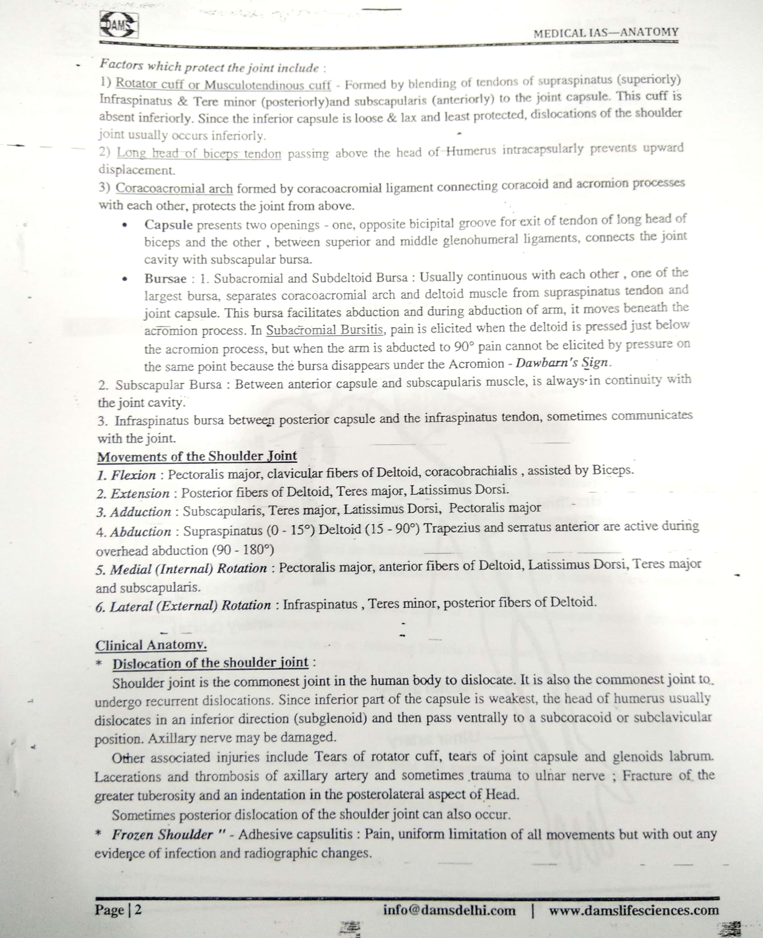 DAMS Coaching - Medical IAS - English Medium - Printed Material