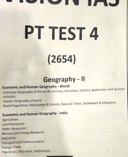 Vision IAS - Prelims Test Series - 2019 - ( 1 to 35) Test - English Medium  - Printed Material